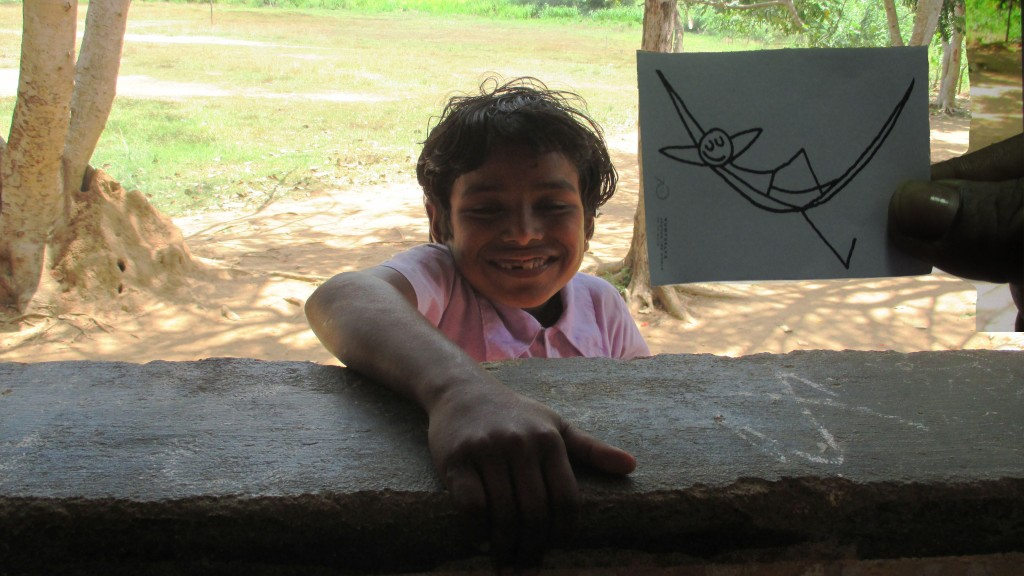 A joyful smile, a gift of UNIC Colombo on an outreach activity in rural village