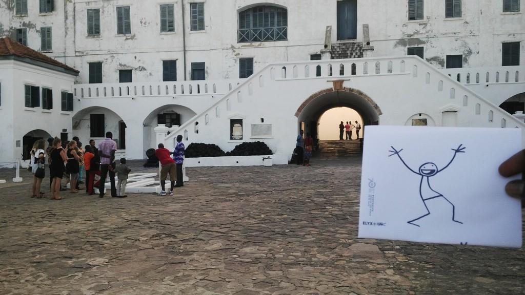 Elyx at Cape Coast Castle, once known for the transatlantic slave trade.