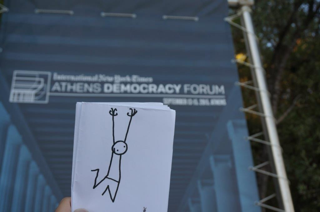Elyx visits the Stoa of Attalos and learns about the 3rd Athens Democracy Forum