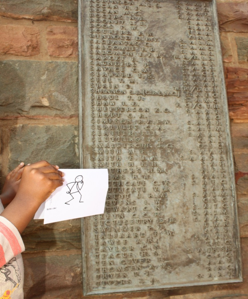 Elyx in South Africa - Picture 2 - Elyx visits the Wall of Remembrance
