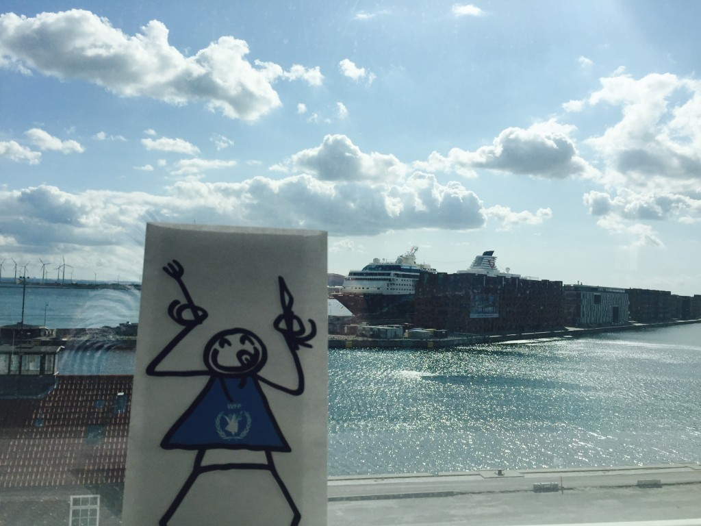 Elyx enjoys the view over the Øresund strait and the many windmills